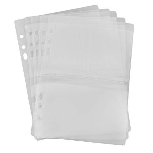 Ahomi DIY Scrapbooking Stanzschablone Schablone Kunstleder Aufbewahrung Bücheretui Sammlungen Transparent Siegelschablone Halter, 3 Grid