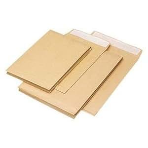 Enveloppes C4 Kraft blond 90g avec bande de protection et fenêtre par 250