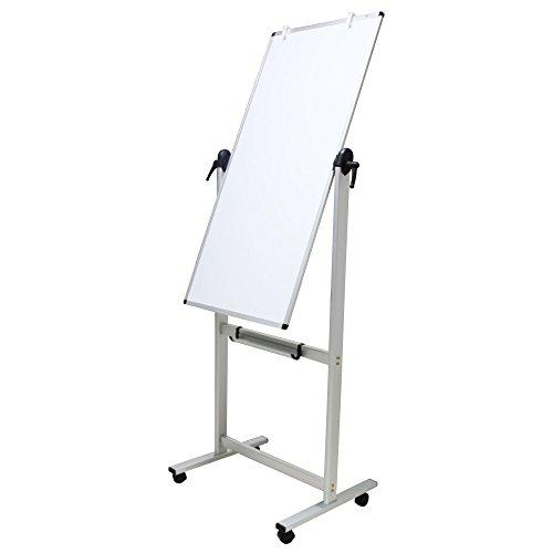 VIZ-PRO Mobile whiteboard / Doppelseitige magnetisch whiteboard, mit Alurahmen, 120 x 60 cm