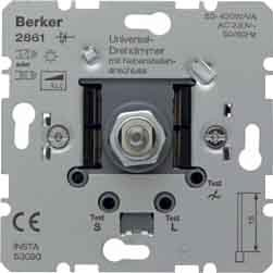 Berker 286110 Integrado Regulador de intensidad Metálico regulador - Reguladores (Regulador de intensidad, Integrado, Giratorio, Metálico)
