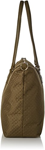 Tommy Hilfiger Poppy Tote Quilted Argyle, Borsa a Tracolla Donna, 14 x 32 x 47 cm (W x H x L) Marrone (Quilted Dark Olive)