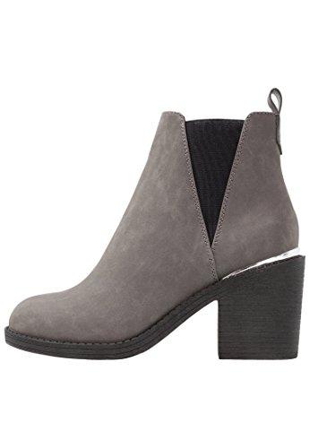 Even&Odd Botines de Mujer - Botas de Invierno con Tacón de Bloque – Ankle Boots, Gris en Talla 38