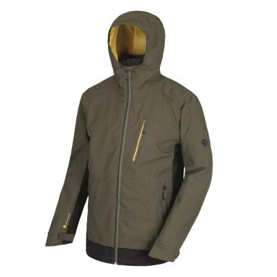 Regatta Herren Wentwood III 3 in 1 Waterproof and Breathable with Zip-Out Fleece Jacke, Dark Khaki/Black, L (Für In Khaki Männer Jacke)