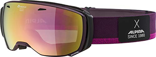 ALPINA Damen Estetica MM Skibrille, deepviolet, One Size