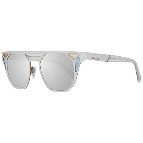 Diesel Unisex-Erwachsene DL0249 24C 48 Sonnenbrille, Weiß (Bianco),