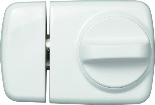 ABUS Tür-Zusatzschloss 7510 mit Drehknauf für Türen mit schmalen Rahmenprofilen, weiß, 58917 -