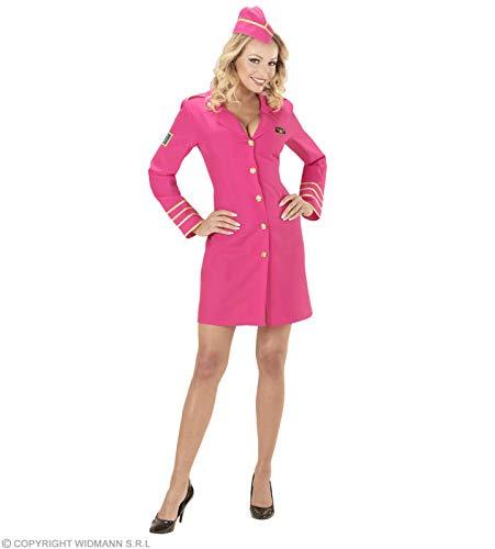 Widmann wdm44633-Kostüm Stewardess, Pink, Large (Stewardess Damen Kostüm)
