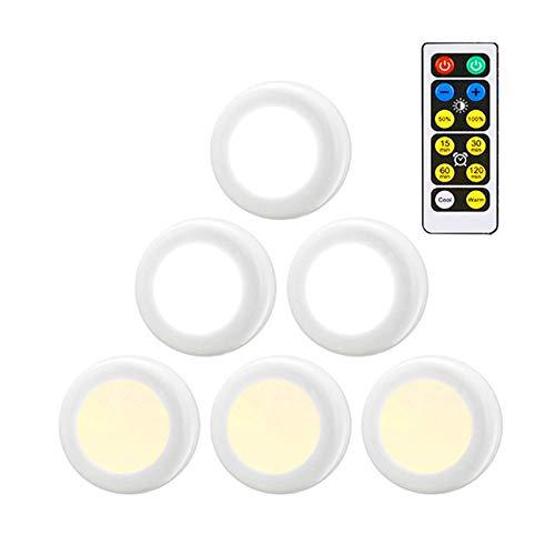 6500 Karat 5000 Karat 2700 Karat Farbwechsel Dimmbare Fernbedienung Puck Nachtlichter Touch Sensor LED Unter Küchenschränke Schließen lichter - Hintere Vitrine