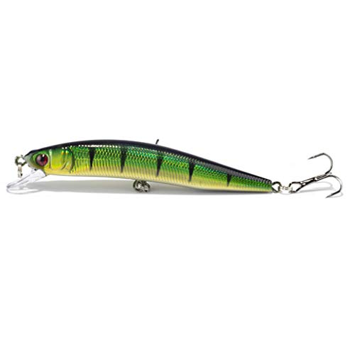 JOYOTER Fishing Lure Artificial Minnow Bait Crankbait Tackle Strong Hooks Pesca Swimbaits (Hook And Tackle-angeln-hemden)