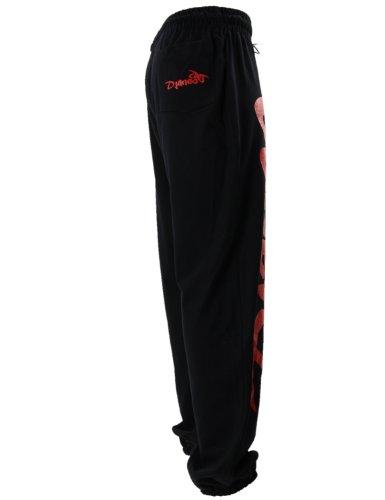 Jogginghose Herren und Damen. Sporthose Djaneo Rio Baumwolle. Hosen in 35 farben. schwarz und rot