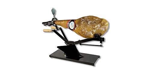 Jamonero Profesional Moderno y Original | Soporte Horizontal de Acero para Jamón y Paletilla | Proporciona al Cortador más Fijación y Comodidad a la Hora de Cortar Que uno Vertical Convencional