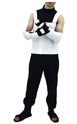 DAZCOS Herren US-Größe Erwachsene Hatake Kakashi Anbu Vest Cosplay Männer Große - Kakashi Hatake Anbu Kostüm