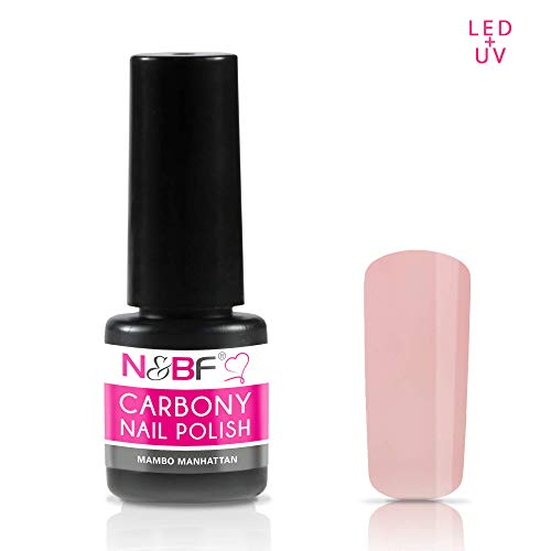 N&BF Carbony UV + LED Nagellack Mambo Manhattan (Orange) | 5ml Gel Nail Polish dünnviskos | 3-in-1 Gellack - ohne Base & Top Coat | All in one Farblack hochglänzend | kratzfest & splitterfest