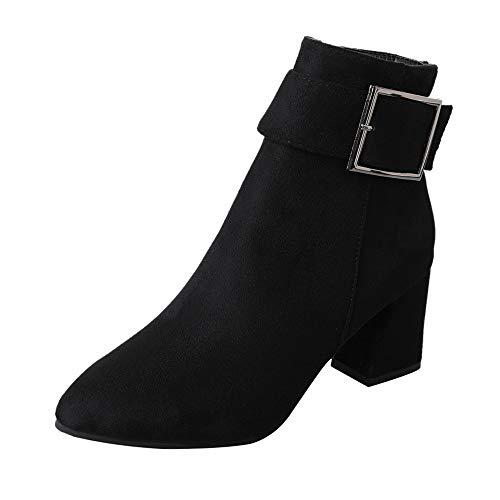 Schuhe Stiefel Damen Mode, SUNNSEAN Damenstiefel Wildleder Stiefel -