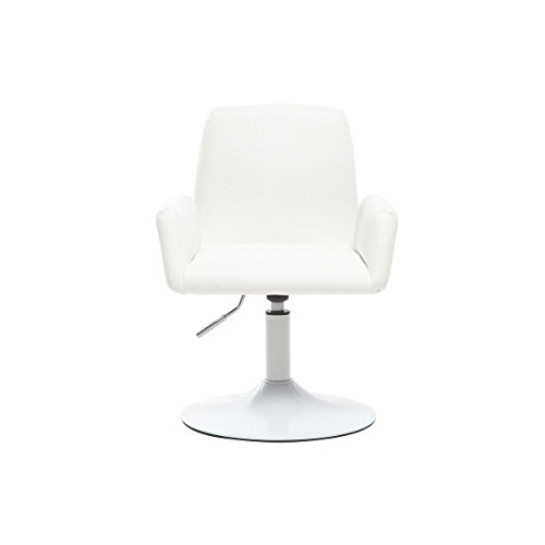 Miliboo - poltrona design girevole pu bianco solly