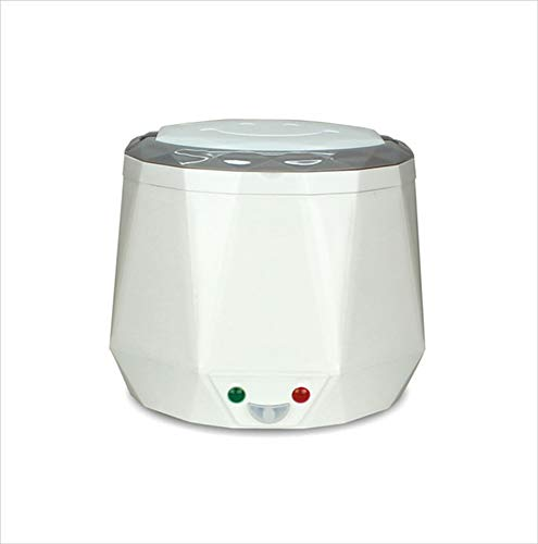 Box Electric Lunch, Portable Food Lunch Heater Mini Rice Steamer Pot mit Removable Edelstahl-Container, Lebensmittel-Grade Materialspezifikation,White,12V