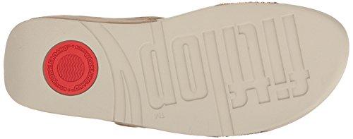 FitFlop Damen Lulu Popstud Slide Sandal Peeptoe, Blank Desert Stone