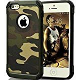 Fdtcyds iphone 5s custodia, slim fit, morbido tpu e coperchio flip cover custodia, resistente, custodia di protezione per apple iphone 5/5s – camo green