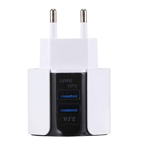 Lopbinte 3.1A Doppel USB Blau Led Licht Telefon Ladeger?t Adapter Wand Handy Ladeger?t Reise Adapter Für Eu Stecker - Doppel-wand-adapter