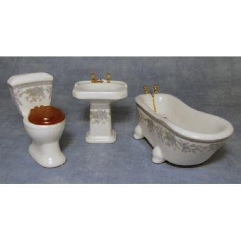 Salle de bain pour maison de poupées 1:12