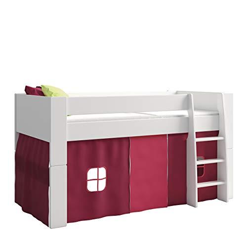 Steens For Kids Vorhangset für Kinderbett, Hochbett, 5 tlg, 176 x 75 x 91 cm (B/H/T), Baumwolle, Pink