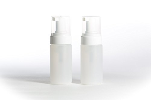 empty-foam-pump-dispenser-bottles-2-clear-plastic-bottles-for-liquids-soaps-and-cleaners-125ml