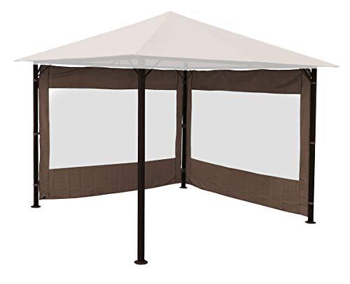 Quick-Star 2 Seitenteile für Gartenpavillon Antik Pavillon Partyzelt 3x3m Seitenwand Taupe