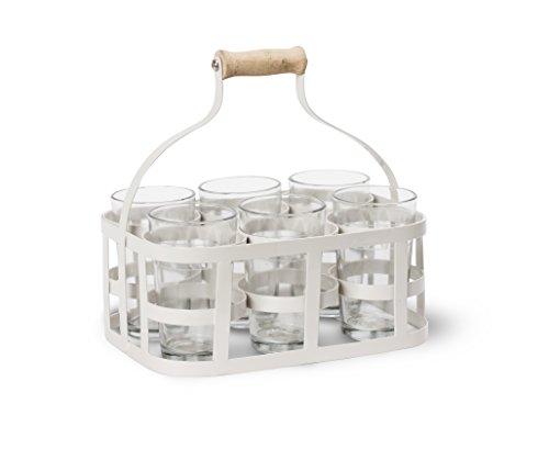 Garden Trading Glas Carrier mit Brille, Kreide
