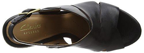 Clarks Amelia Dally Damen Slingback Sandalen Schwarz (Black Leather)
