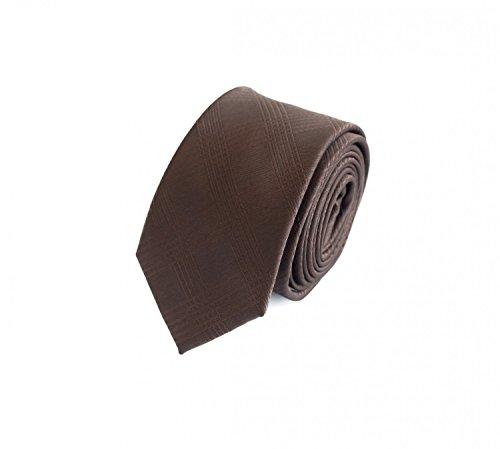 Fabio Farini Seidenweiche Krawatte 6 cm in verschiedenen Farben, Braun