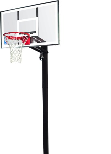Spalding Basketballanlage NBA Gold In-Ground, transparent, 3001651020754