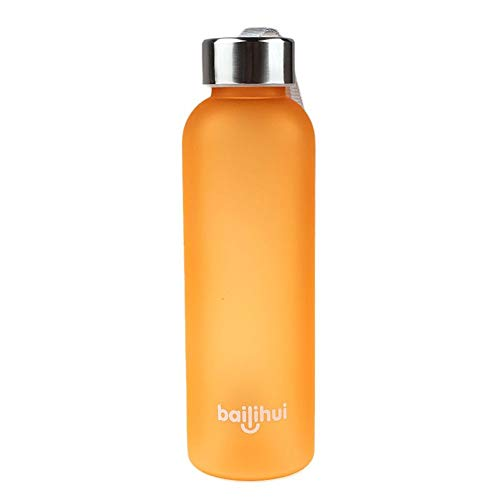 HGDQ Sportflasche 2019 Heißer New Leak Enge Fruchtsaft Sport Tragbare Lanyard Matt Scrub Reise Flasche Wasser für Wassergeschenk 600ML, China, 0.6L, D