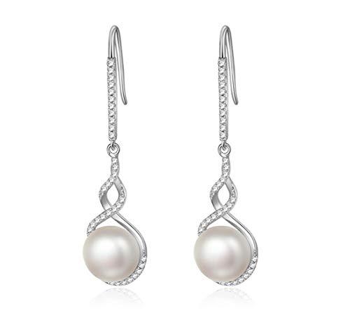 22201 BR Einfache Persönlichkeit Klettern Reben Pflanze Kürbis Form S925 Sterling Silber Wassertropfen Perle Ohrringe