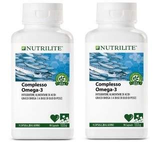 Complejo Omega 3 Nutrilite.Un complemento alimenticio con aceite de pescado que contiene ácidos grasos Omega 3