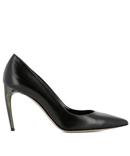 Alexander-McQueen-Womens-493447WHMU01000-Black-Leather-Pumps