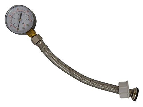 Medidor de presión de agua Newtool de corriente 0-10bar con 1,91 cm BSP montaje