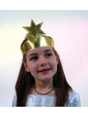 Festartikel Müller Stirnband Stern Krone Sternenkrone Gold Einheitsgröße (Sternen-stirnband)