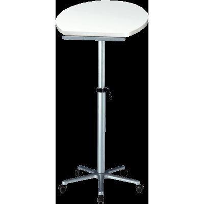 Maul Stehpult, Höhenverstellbar, Neigbar, Tischplatte weiß, 5 Bremsrollen, 60 x 51 x 120 cm,...