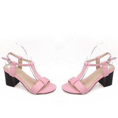 LvYuan Sandali-Ufficio e lavoro Formale Casual-Club Shoes-Quadrato-Velluto-Nero Rosa Grigio gray