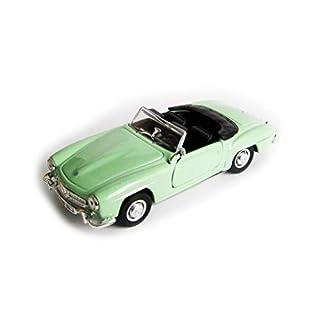 Anik-Shop Mercedes-Benz 190SL 1955 Modellauto Metall 4 Varianten Modell Auto Spielzeugauto Geschenk 83 (Grün offen)