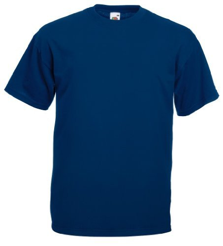 Fruit of the Loom - Classic T-Shirt 'Value Weight' XL,Navy (Blaues T-shirt)