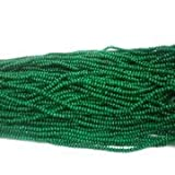 #6: Beadsnfashion Jewellery Making Acrylic Rondelle Beads Green 4x3 mm, Pack of 12 strings of 10 Inch