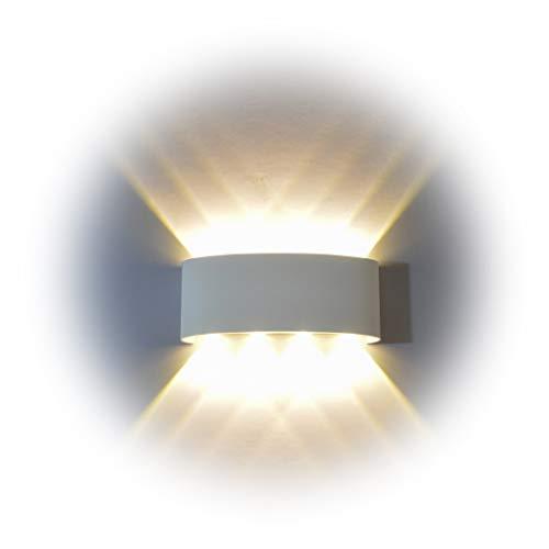 Wandleuchte LED Innen, PHOEWON 8W Modern LED Licht Wandlampe Aluminium  Leuchten Wandlicht Oben Unten Lampen Spotlicht, Wandleuchte Für Schlafzimmer,  ...