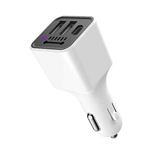 LILY Cargador De Coche, Interfaces USB Y De Tipo C, Coche Purificador De Aire 3.1A Cargador De Teléfono...