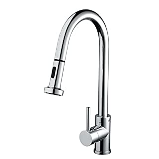 Bristan APR PULLSNK C Apricot Monobloc Sink Mixer with Pull-Out Spray