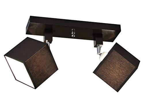 Plafoniera illuminazione a soffitto in legno massiccio lls212dpr