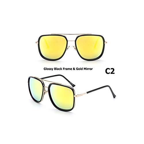 Daawqee Prämie Sonnenbrillen,Brillen, Avocet Two Aviation Style Sunglasses Quality Hot Men Man UV400 Sun Glasses Oculos De Sol Gafas Masculino