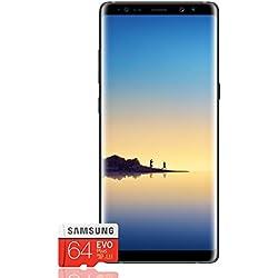 "Samsung Galaxy Note 8 Smartphone, Midnight Black, Display 6.3"", 64 GB Espandibili, Dual SIM [Versione Italiana] + Micro SD 64 GB Samsung EVO Plus"