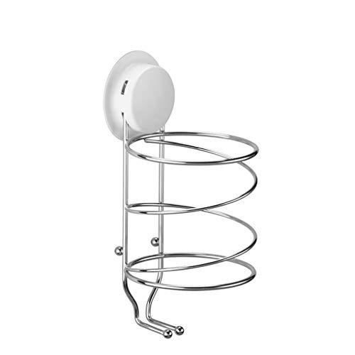 LIYANCFJJ-hair dryer holders Fönhalter und Haarglätter Halter Für Alle Oberflächen mit 2 Zusätzlichen Haken Rostfrei Starke Saugnäpfe (Edelstahl)