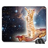 Bacon Space Kitty Mouse Pad, Mousepad (Cats Mouse Pad) Office Space Mouse Pad